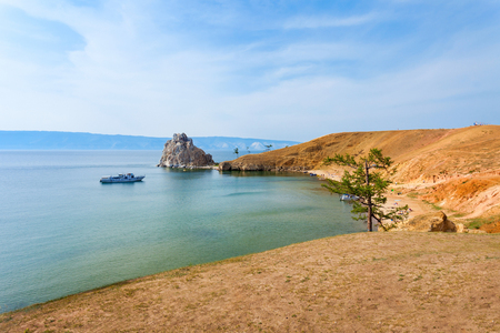 shamanism: Baikal lake near Khuzhir villahe at Olkhon island in Siberia, Russia. Lake Baikal is the largest freshwater lake in the world.
