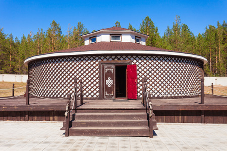 ethnographic: Yurt is a part of exhibit of the Ethnographic Museum of transbaikalia people in Ulan-Ude