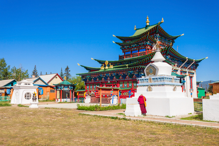 Ivolginsky datsan. It is the Buddhist Temple located near Ulan-Ude city in Buryatia, Russia. Editorial