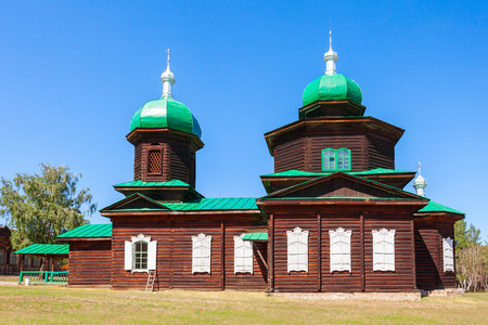 Church of St. Nicholas is old believer church an exhibit of the Ethnographic Museum of transbaikalia people in Ulan-Ude Editorial