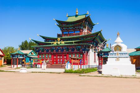 buryatia: Ivolginsky datsan monastery is the Buddhist Temple located near Ulan-Ude city in Buryatia, Russia