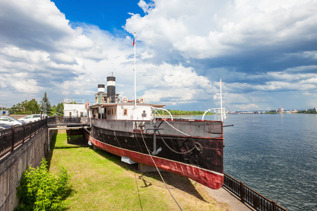 nikolay: Prelate Nikolay Steamship Museum is a ship museum located on the eternal docked in the city of Krasnoyarsk in Russia Editorial
