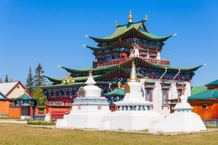 Etigel Khambin  at Ivolginsky datsan. It is the Buddhist Temple located near Ulan-Ude city in Buryatia, Russia.