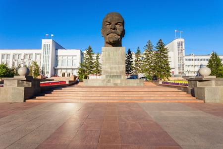 ウランウデ, ロシア連邦-2016 年 7 月 14 日: 最も大きいソビエト頭記念碑リーダー ウラジーミル ・ レーニンがこれまで建設されたウランウデにあります。ウランウデは、ロシアのブリヤート共和国の首都です。