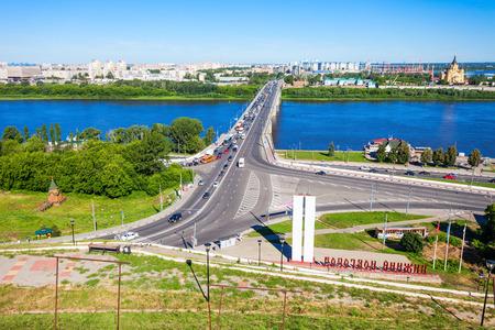 NIZHNY NOVGOROD, RUSSIA - JUNE 29, 2016: Nizhny Novgorod aerial panoramic view. Nizhny Novgorod is fifth largest city in Russia and the center of Nizhny Novgorod Oblast and Volga Federal District.