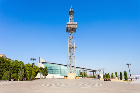 Parachute tower in Baku is a construction of 75 meters height located in Baku Boulevard and which was built in form of derrick.