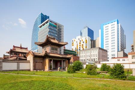 Het Choijin Lama Tempelmuseum is een boeddhistisch klooster in Ulaanbaatar, de hoofdstad van Mongolië Stockfoto - 75074393