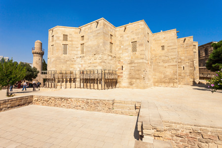 caspian: The Palace of the Shirvanshahs is a 15th-century palace built by the Shirvanshahs, located in the Old City of Baku, Azerbaijan. Stock Photo