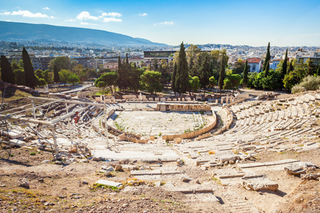 The Theatre of Dionysus Eleuthereus is a major theatre in Athens, Greece. The Theatre built at the foot of the Athenian Acropolis and dedicated to Dionysus, the god of wine.