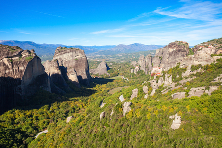 stephen: Meteora - is a formation of immense monolithic pillars and hills like huge rounded boulders which dominate the local area.