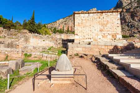 The Sacred Omphalos Stone, Navel of the World, in other words, the centre of the world in Delphi. Delphi was an important ancient Greek religious sanctuary sacred to the god Apollo.