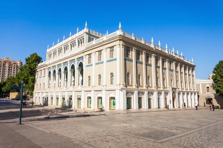 BAKU, AZERBAIJAN - SEPTEMBER 14, 2016: The Nizami Ganjavi National Museum of Azerbaijan literature is located in the centre of Baku in Azerbaijan. Editorial