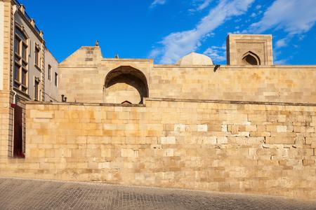 The Palace of the Shirvanshahs is a 15th-century palace built by the Shirvanshahs, located in the Old City of Baku, Azerbaijan. Stock Photo