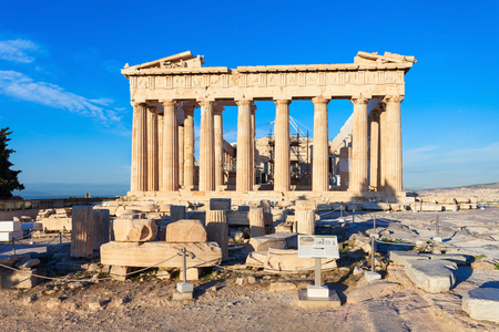 The Parthenon is a former greek temple on the Athenian Acropolis in Greece, dedicated to the goddess Athena.