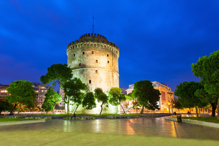 The White Tower of Thessaloniki is a monument and museum on the waterfront of Thessaloniki, capital of the region of Macedonia in northern Greece