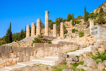 delphi: Delphi is ancient sanctuary that grew rich as seat of oracle that was consulted on important decisions throughout the ancient classical world.