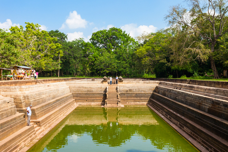 unesco: Kuttam Pokuna Twin Ponds - one of the best specimen of bathing tanks in the ancient kingdom of Anuradhapura, Sri Lanka