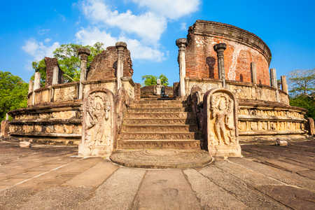polonnaruwa: Polonnaruwa Vatadage is ancient structure dating back to the Polonnaruwa Kingdom of Sri Lanka.