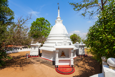 vihara: Athugala Viharaya near the Samadhi Buddha statue on top of the Elephant rock in Kurunegala city, Sri Lanka