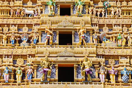 Vallipuram Alvar or Valipura Aalvar Vishnu Kovil is a hindu temple near Jaffna, Sri Lanka. Vallipuram Alvar Kovil is considered as one of the oldest Hindu temples in Jaffna. Stock Photo
