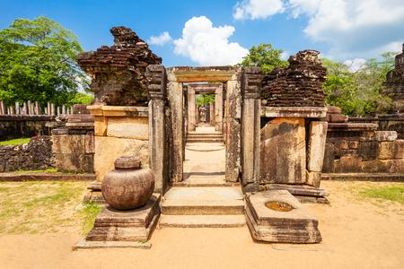 Hatadage or Hetadage is an ancient relic temple in Polonnaruwa city, Sri Lanka Stock Photo