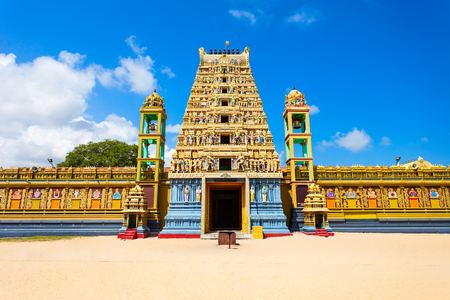 Vallipuram Alvar or Valipura Aalvar Vishnu Kovil is a hindu temple near Jaffna, Sri Lanka. Vallipuram Alvar Kovil is considered as one of the oldest Hindu temples in Jaffna. Stock Photo