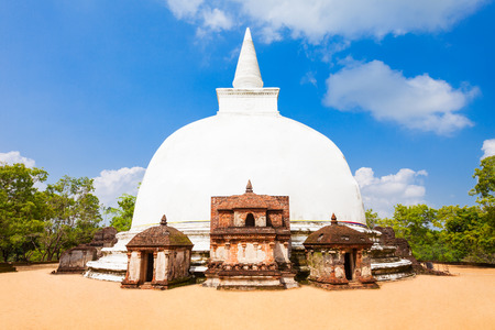 ceylon: Kiri Vehera of Polonnaruwa is a large stupa in Polonnaruwa ancient city, Sri Lanka