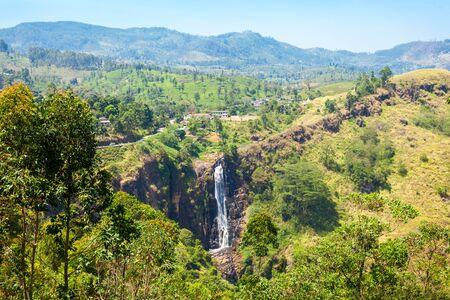ceylon: Devon Waterfall near Nuwara Eliya, Sri Lanka. Stock Photo