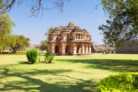 karnataka: Beautiful Lotus Temple, Hampi India. Stock Photo