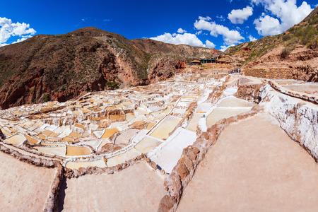 Salineras de Maras is a salt mine near Cusco, Peru
