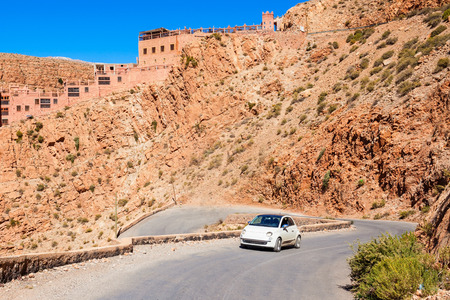 twist: Dades Gorge is a gorge of Dades River in Atlas Mountains in Morocco. Stock Photo