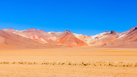Salvador Dali Desert, also known as Dali Valley is an extremely barren valley of southwestern Bolivia Stock Photo