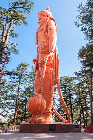 Hanuman statue near the Jakhoo Temple, it is an ancient temple in Shimla, dedicated to Hindu deity, Hanuman.