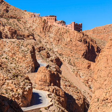 Dades Gorge is a gorge of the Dades River and lies between the Atlas Mountains and the Jbel Saghro of the Anti Atlas mountain range in Morocco