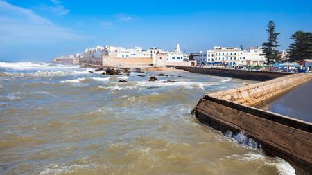 Essaouira Ramparts in Essaouira, Morocco. Essaouira is a city in the western Moroccan region on the Atlantic coast.