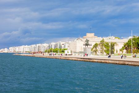 Thessaloniki seafront promenade in Central Macedonia, Greece