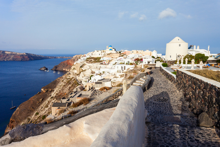 Oia or Ia is a small town in the South Aegean on the islands of Santorini in the Cyclades, Greece