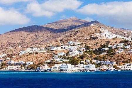 Ios town and Chora village, Ios island, Cyclades in Greece