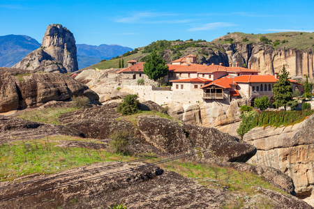 The Holy Trinity Monastery, also known as Agia Triada is an Eastern Orthodox monastery at Meteora in central Greece, situated near the town of Kalambaka.