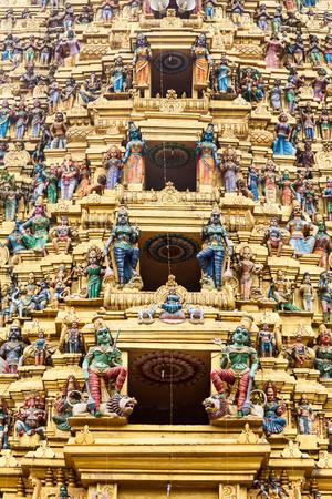 Muthumariamman Temple Kovil relief decor. Muthumariamman is a hindu temple dedicated to Mariamman goddess in Matale, Sri Lanka
