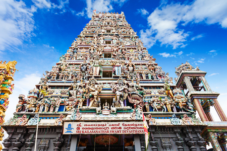 Sri Kaileswaram Temple or Sri Kailawasanathan Swami Devasthanam Kovil is a main hindu temple in Colombo, Sri Lanka Editorial