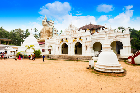Wewurukannala Vihara or Raja Maha Viharaya. Wewurukannala Vihara is a buddhist temple in Dikwella, Sri Lanka Stock Photo