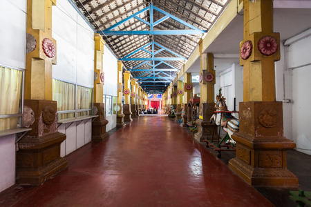 CHILAW, SRI LANKA - FEBRUARY 09, 2017: Munneswaram temple is an important regional Hindu temple complex in Sri Lanka.