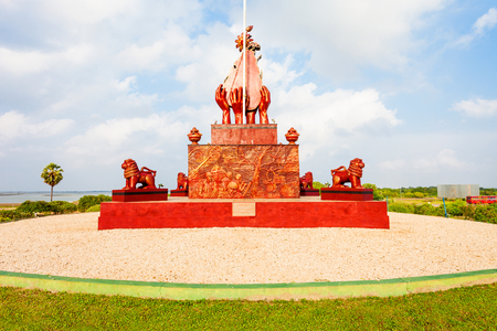 Elephant Pass War Memorial is a special War Hero Memorial, erected in honour of fallen Civil War Heroes near Jaffna, Sri Lanka.