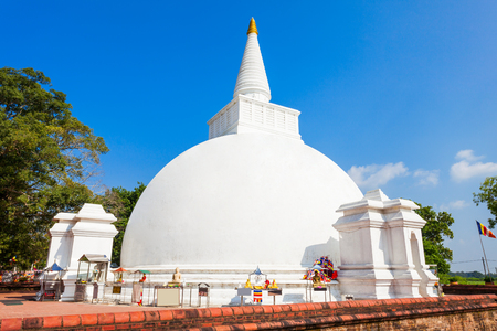 Somawathiya Chaitya or Somawathi Rajamaha Viharaya is a Buddhist Stupa and Temple situated in the ancient city of Polonnaruwa, Sri Lanka Editorial