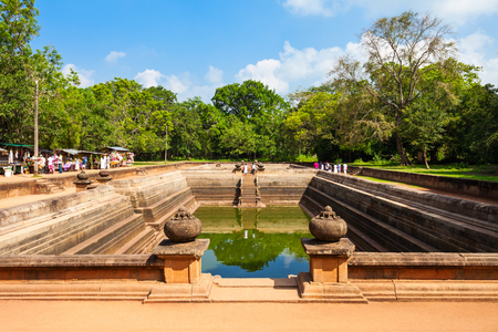 Kuttam Pokuna Twin Ponds - one of the best specimen of bathing tanks in the ancient kingdom of Anuradhapura, Sri Lanka