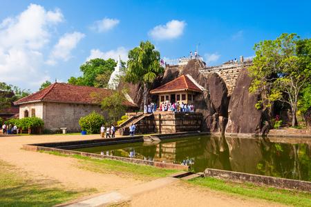 Isurumuniya is a Buddhist temple in Anuradhapura, Sri Lanka. Anuradhapura is one of the ancient capitals of Sri Lanka.