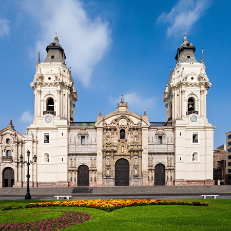 The Basilica Cathedral of Lima is a Roman Catholic cathedral located in the Plaza Mayor in Lima, Peru