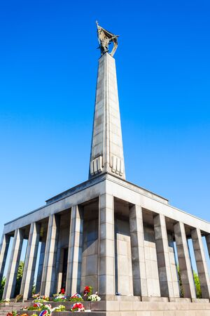 Slavin War Memorial is a monument and military cemetery in Bratislava, Slovakia. Slavin War Memorial is the burial ground of Soviet Army soldiers in World War II.