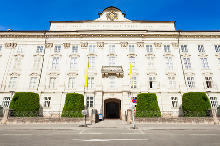 The Hofburg Imperial Palace is a former Habsburg palace in Innsbruck, Austria. Innsbruck is the capital city of Tyrol.